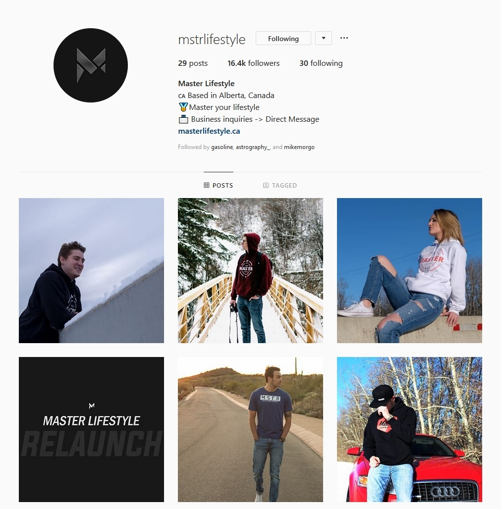 Master Lifestyle instagram account